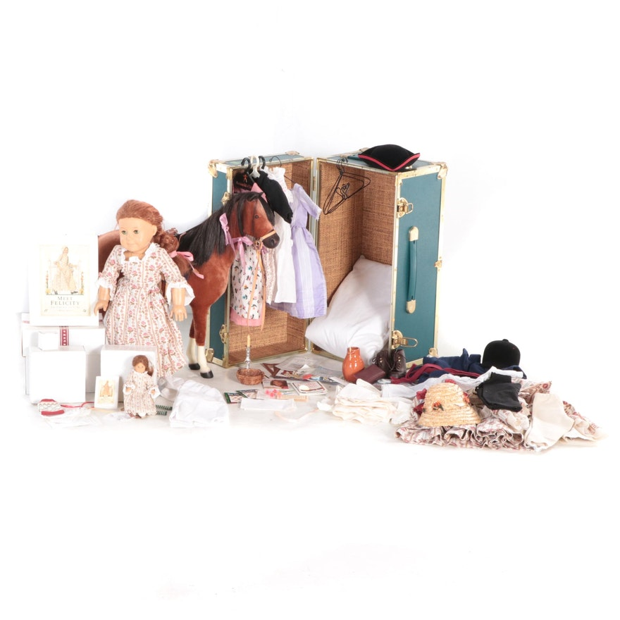 """American Girl """"Felicity"""" Doll with Horse """"Penny"""", Books and Other Accessories"""