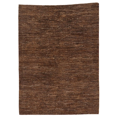 8'1 x 11'1 Hand-Knotted Afghan Gabbeh Style Area Rug