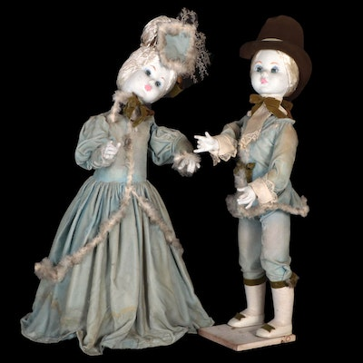 Composite Electric Automaton Dolls, Early 20th Century