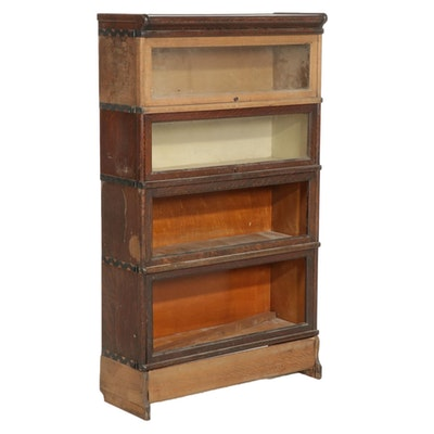 Macey Quarter Sawn Oak Barrister's Bookcase, Early 20th Century