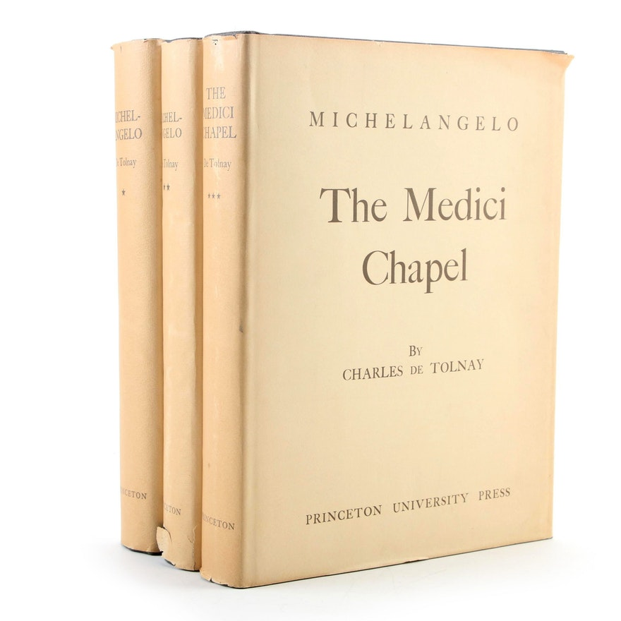 """Second Edition """"Michelangelo"""" Biography by Charles de Tolnay, Mid-20th Century"""