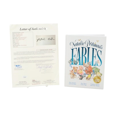 """Signed First Edition """"Natalie Portman's Fables,"""" 2020, COA"""