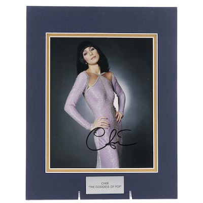 """Cher """"The Goddess of Pop"""" Signed Actress and Singer Photo Print, COA"""