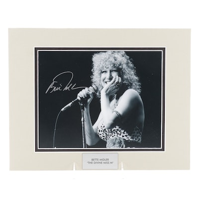 """Bette Midler """"The Divine Miss M"""" Signed Singer, Songwriter, and Actress Print"""