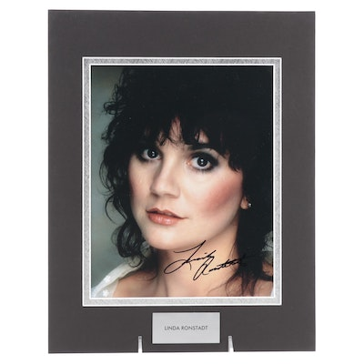 Linda Ronstadt Signed Rock and Roll and Country Singer Photo Print, COA