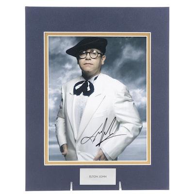 Elton John Signed Singer, Songwriter, Composer, and Pianist Photo Print, COA