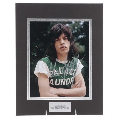 """Mick Jagger Signed Lead Singer of """"The Rolling Stones"""" Photo Print, COA"""