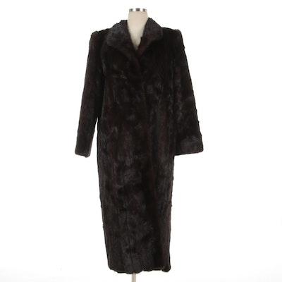 Evans Dark Ranch Mink Fur Coat by Burdines
