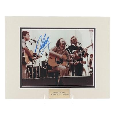 "David Crosby Signed ""Crosby, Stills & Nash"" Rock-N-Roll Photo Print, COA"