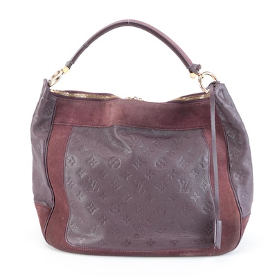 Louis Vuitton Audacieuse MM in Aube Monogram Empreinte Leather and Suede