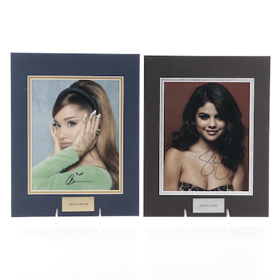 Ariana Grande and Selena Gomez Signed Singer, Songwriter, and Actress Prints