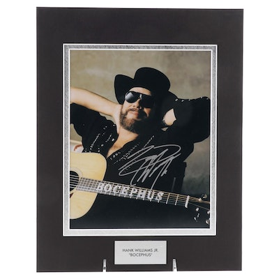 Hank Williams Jr. Signed Country Music Hall of Fame Singer Photo Print, COA