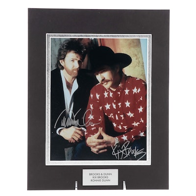 """Kix Brooks and Ronnie Dunn Signed """"Brooks & Dunn"""" Country Music Duo Photo Print"""