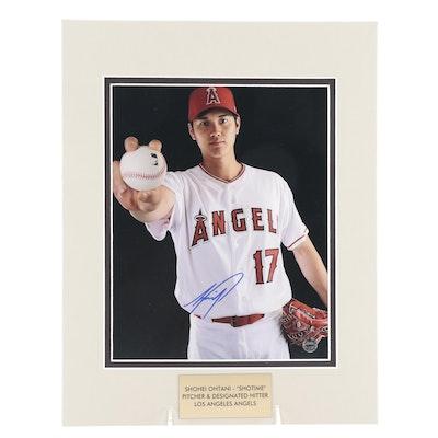 "Shohei Ohtani ""Shotime"" Signed Pitcher and DH Los Angeles Angels Print, COA"