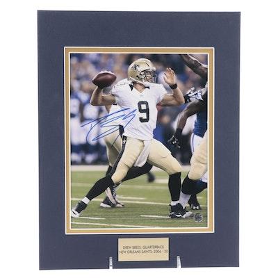 Drew Brees Signed Quarterback New Orleans Saints (2006-2020) Photo Print, COA