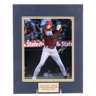 """Shohei Ohtani """"Shotime"""" Signed Pitcher and DH Los Angeles Angels MLB Photo Print"""