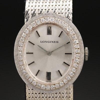 14K Longines Diamond Wristwatch