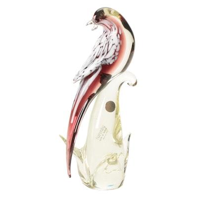 Formia Murano Art Glass Bird Figurine