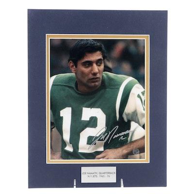 Joe Namath Signed Quarterback New York Jets (1965-1976) Football Print, COA