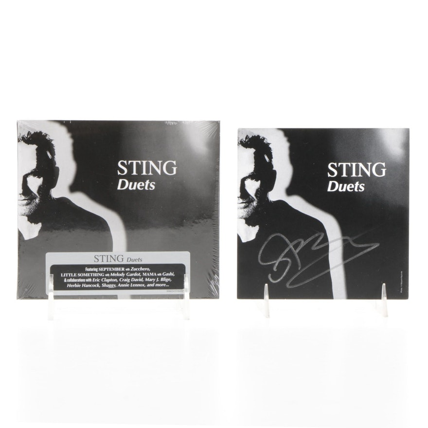 """Sting Signed """"Duets"""" Liner Note with Sealed CD, 2020, JSA COA"""