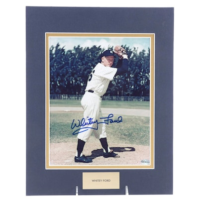 Whitey Ford Signed New York Yankees Hall of Fame Pitcher Photo Print, COA