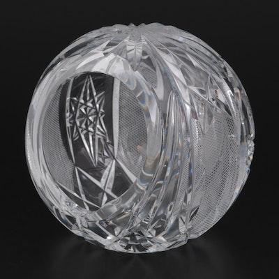 Cut Crystal Orb Ashtray
