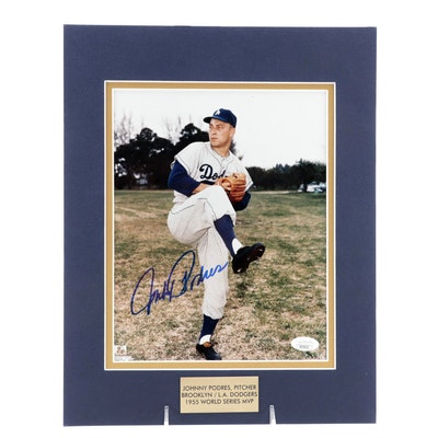 "Johnny Podres Signed ""1955 World Series MVP"" Dodgers Pitcher Photo Print, JSA"