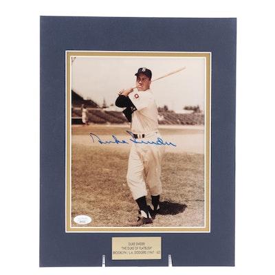 "Duke Snider ""The Duke of Flatbush"" Signed Brooklyn Dodgers Photo Print, JSA COA"