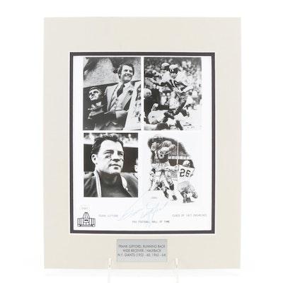 Frank Gifford Signed New York Giants Hall of Fame Running Back Signed Print, JSA