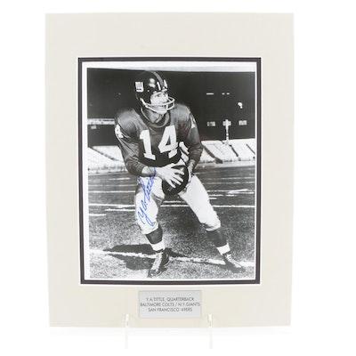 Y.A. Tittle Signed New York Giants Quarterback Photo Print, PSA/DNA COA