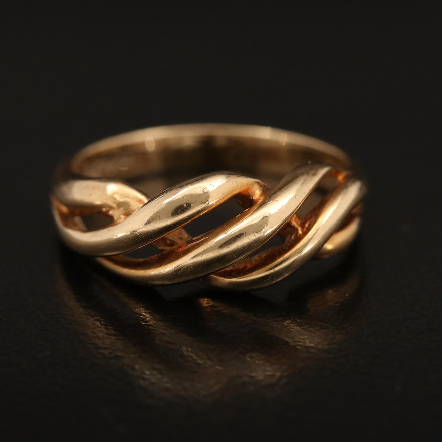 14K Crossover Band