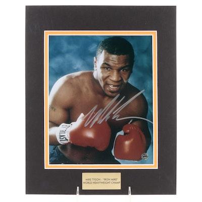"Mike Tyson Signed ""Iron Mike: World Heavyweight Champ"" Photo Print, COA"