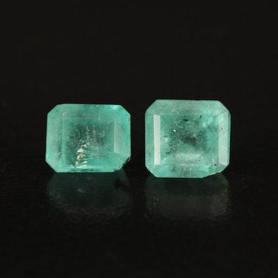 Loose 2.99 CTW Rectangular Emerald
