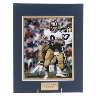 Archie Manning Signed Quarterback New Orleans Saints (1971-1982) Photo Print