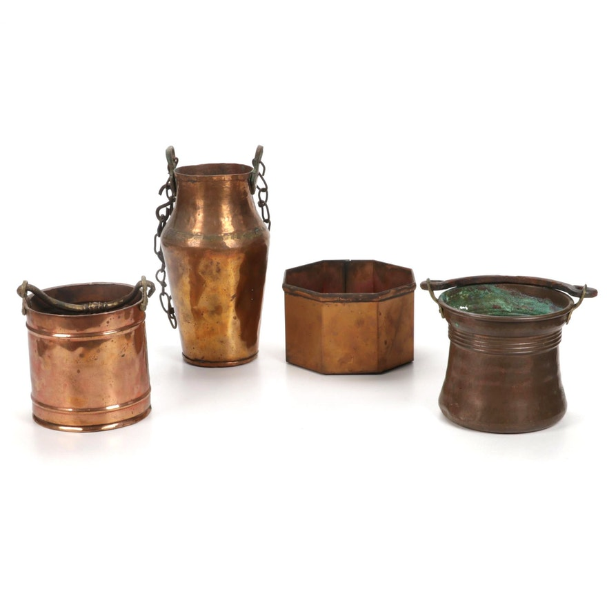 Copper Pots and Planters