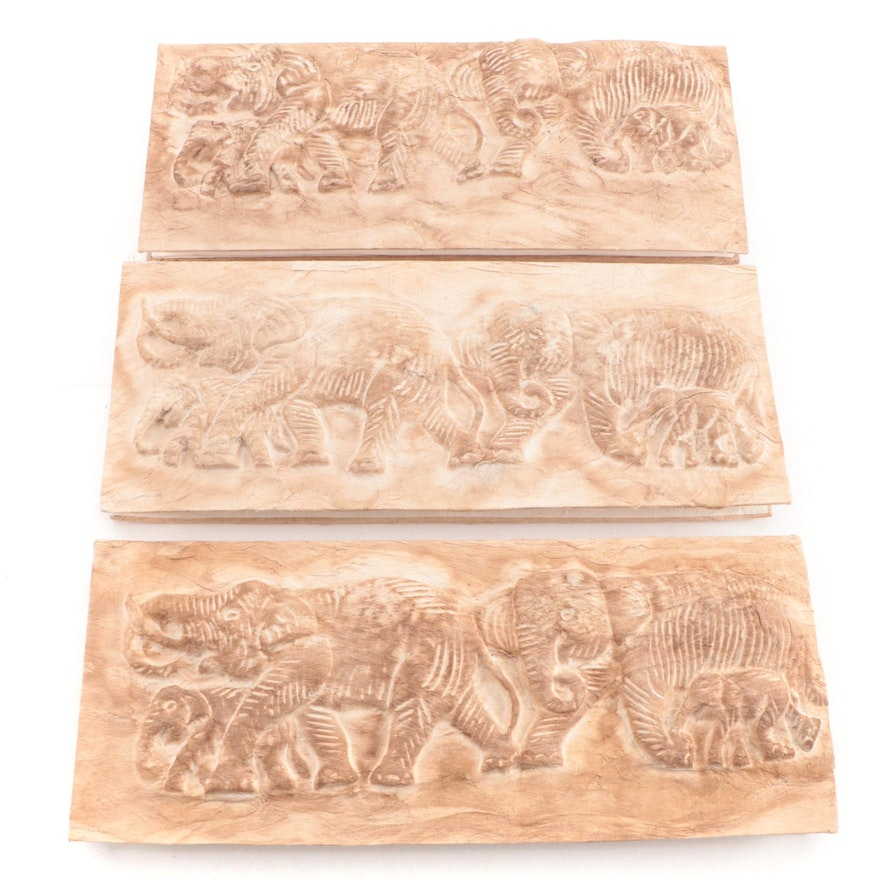 Thai Style Handcrafted Elephant Motif Mulberry Bark Paper Photo Albums