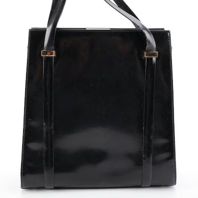 Gucci Hardframe Shoulder Bag in Black Patent Leather