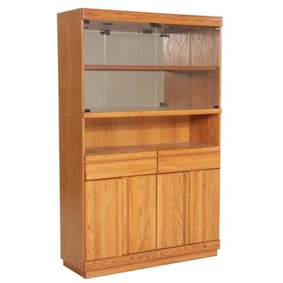 Wambold Oak Display Cabinet