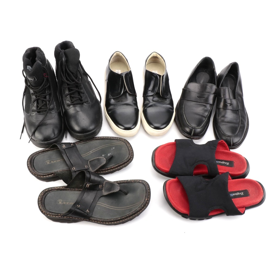 Men's Kennth Cole, Zegna Sport, and Other Sandals, Boots, Loafers, and Sneakers