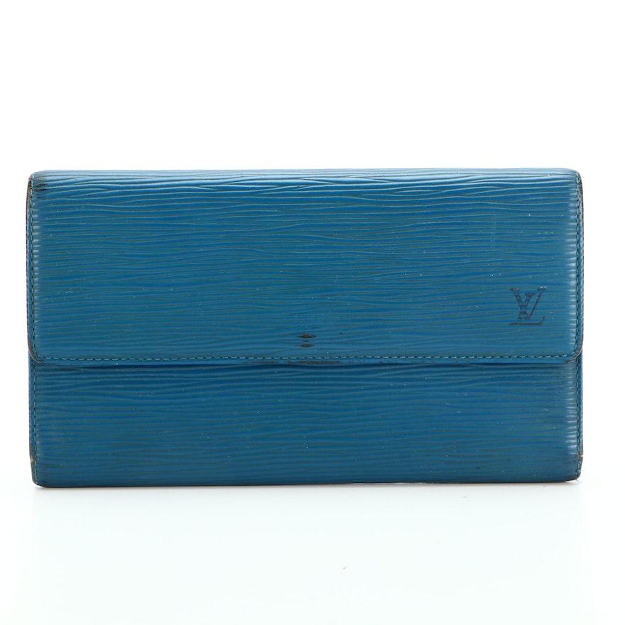 Louis Vuitton Porte-Trésor International Organizer in Toledo Blue Epi Leather