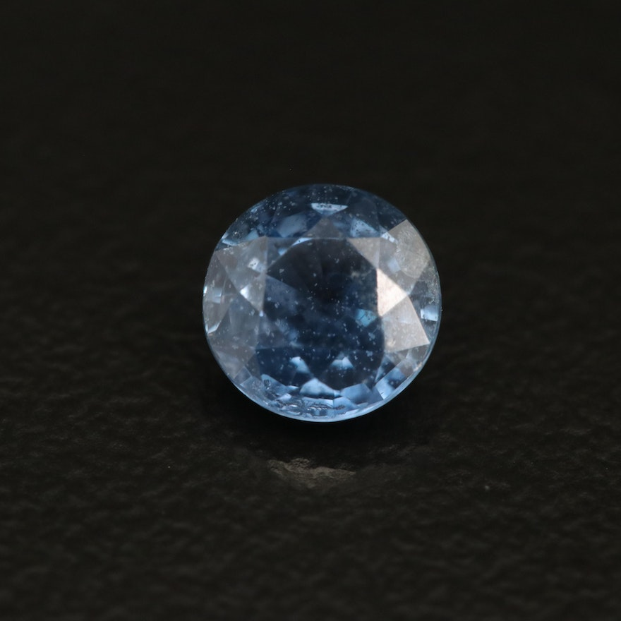 Loose 0.90 CT Round Faceted Sapphire
