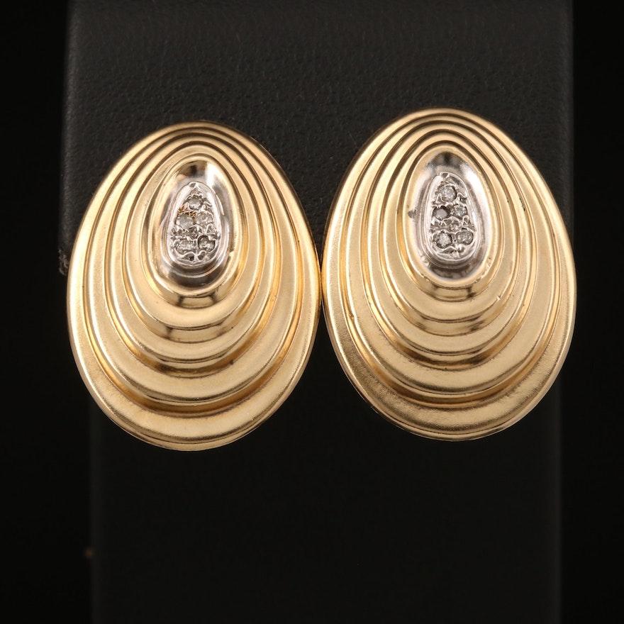 14K 0.10 CTW Diamond Earrings