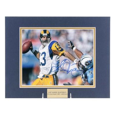 Kurt Warner Signed Quarterback St. Louis Rams NFL Photo Print, COA