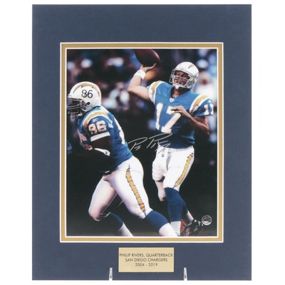 Phillips Rivers Signed Quarterback San Diego Chargers (2004-2019) Photo Print