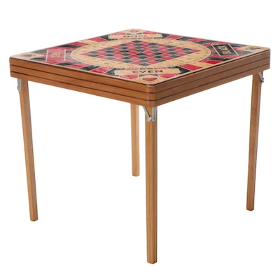 Ken Wood Products Monte Carlo 5-In-1 Game Table with Folding Legs, 1950s