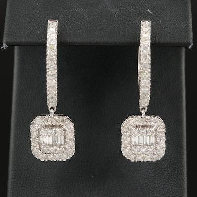 14K 2.96 CTW Diamond Drop Earrings