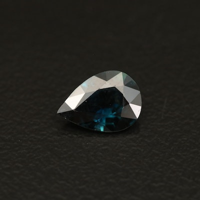 Loose 0.82 CT Pear Faceted Sapphire