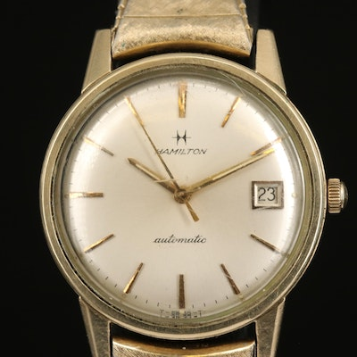 Vintage Hamilton 10K Rolled Gold Plate Automatic Wristwatch