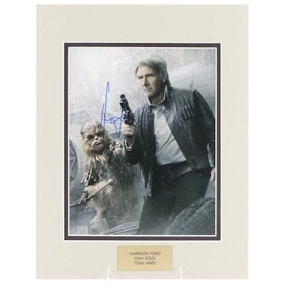 "Harrison Ford ""Han Solo"" Signed ""Star Wars"" Movie Photo Print, COA"