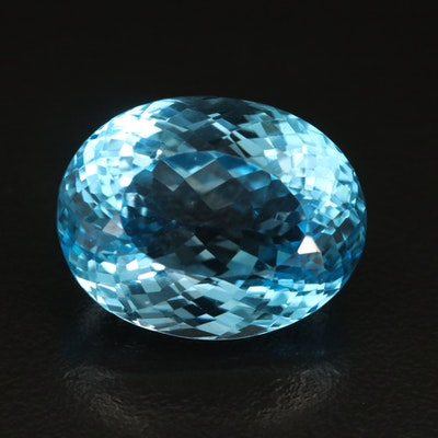 Loose 40.34 CT Swiss Blue Topaz